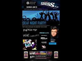 A Deaf Night Party