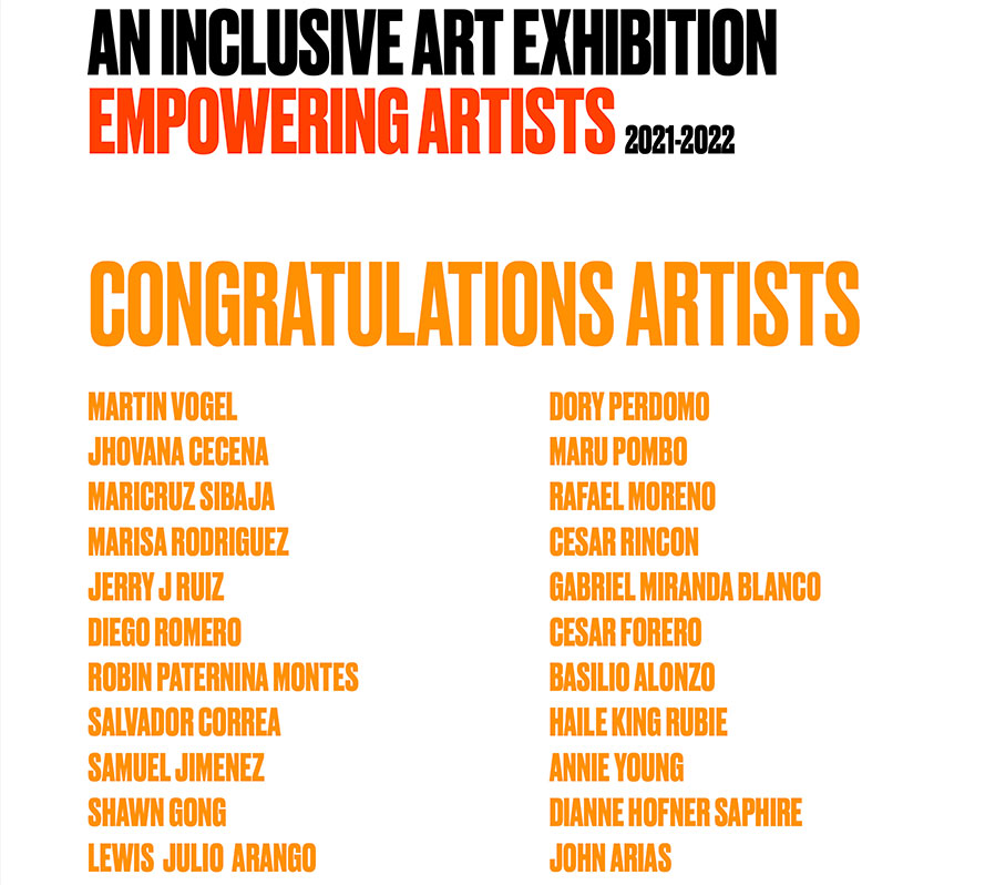 Empowering Artists Virtual Gallery 2021